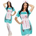 WOMEN LADIES MAD ZOMBIE BLOODY NURSE HALLOWEEN HORROR FANCY DRESS COSTUME OUTFIT