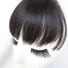 Fashion Clip In Front Human Hair Flat Bang Fringe Hair Extensions Black Brown