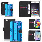 black pu leather wallet case for many mobiles candid pictoral