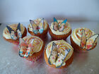24 Disney Princess Heroine Butterfly Edible Rice Paper Cup Cake Toppers