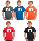 M&M candy T-shirt Halloween Costume cosplay chocolate group & family M Shirts