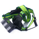 US 50000LM LED Headlamp T6 5xBright white/Blue Light Headlight Charger+18650 BTY