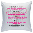 "Designed White Cushions 18"" - Disney Quotes - In Our Loving Home - Style 7"