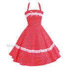 Maggie Tang 50s Pinup Retro VTG Polka Dots Housewife Rockabilly Swing Dress K503