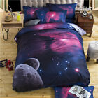 3d Galaxy Bedding Sets Single Double Twin Queen Outer Space Themed Bed Linen