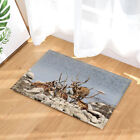 Marry Christmas Reindeer Elk Waterproof Fabric Shower Curtain Bathroom 71Inch