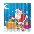 Halloween Christmas Polyester Fabric Shower Curtain Bathroom Curtains Hooks