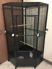 "3 Color, NEW Large Corner Parrot Bird Wrought Iron Cage Size R30"" X 64""H 679"