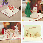 3D Handmade Christmas Series Greeting Card Best Wishes Creative Xmas Gifts