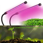 18W Full Spectrum Dual Head Clip Grow Light Growing Lamp Light For Flower Plant