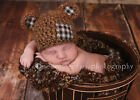 Lacy Bella Baby Vintage Inspired Brown Teddy Bear Hat Beanie