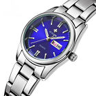 WWOOR Luxury Watches Women Stainless Steel WristWatch Date Week Luminous Quartz