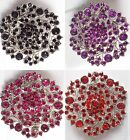 fashion brooch with coloured stone 5cm in diameter wholesale joblot