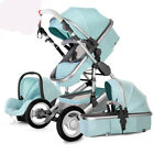 Baby Stroller 3 in 1 new High view Pram foldable pushchair bassinet&Car Seat