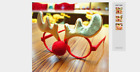 Christmas Ornaments Glasses Frames Decor Evening Party Toy kids Rabbit Gifts