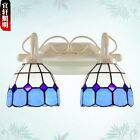 Tiffany Style Stained Glass Sconce Wall Lamp Indoors Double Mirror E27 Light