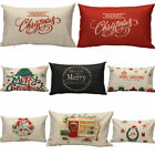Merry Christmas Letter Sofa Bed Home Decor Pillow Case Cushion Cover Linen Skins