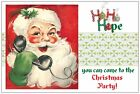 20 Vintage Santa Calls Christmas Party INVITATIONS Postcards