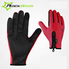 RockBros Winter Cycling Long Full Finger Fleece Thermal Warm Touch Screen Gloves