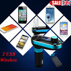 Car FM Transmitter Charger MP3 Player LCD SD Dual USB Kit For iPhone 6 5 5s S6