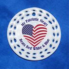 wireless beats cost - My Patriotic Heart Beats Red White Blue Porcelain Gift 3 Formats Flag USA