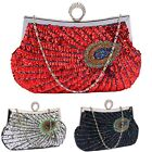 Luxury Clutch Bag For Women Medium Ladies Evening Handbag Party With Chain New