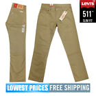 Levi's Men's NWT 511 Slim Fit Jeans in Khaki Brown With Manumit Shipping