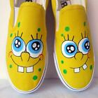 Spongebob Style Children Kids Hand-painted Shoes for Girls Boy Sneaker/free ship