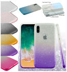For Apple iPhone X 10 BLING Hybrid Glitter Rubber TPU Protective Soft Case Cover $6.97 USD