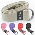 D-Ring 100% Cotton Yoga Strap Stretch Training Belt Fitness Gym Pilates Belt
