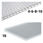4mm 6mm 8mm 10mm 16mm 25mm 35mm Clear Polycarbonate Roofing Sheets Various Sizes for sale  Newport
