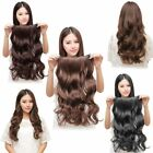 """Us-15""""18""""20"""" Body Wavy One Piece 100% Human Hair Extensions 5 Clip In Hair 80g"""