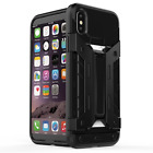Armor Luxury Iron man Hard Bumper Stand Case with card holder For Apple iPhone x