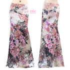 Women's LONG SKIRT Plus Size Rose Floral Pink Maxi (S/M/L/XL/1XL/2XL/3XL)