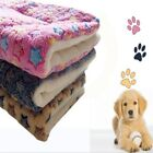 Soft Pet Mat Dog Cat Fleece Blanket Bed Cushion Kennel Cage Pad House Washable