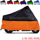 L XL XXL XXXL Motorcycle Cover Waterproof Bike Outdoor Rain Dust UV Protector