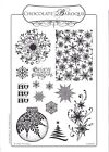 Chocolate Baroque A4 Christmas Rubber Stamps
