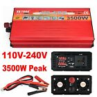 3500W Peak Power Inverter Converter Charger DC 12V/24V To 110V To 220V 240V AC