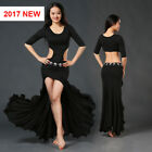 New 2017 Sexy Hollow out O-neck Belly Dance Costumes  Long Dress  Skirt