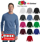 Fruit Of The Loom Long Sleeve T-Shirt HD Cotton Soft Color Plain Blank T 4930 image