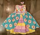 JELLY THE PUG Girls Maiden Collection Hannah Dress 100% Cotton NWT