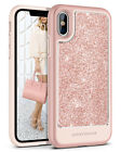 For iPhoneX Case Clear Hard PC Back Hybrid Soft Rubber Bumper Protective Cover