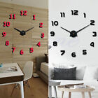 New Creative Fun DIY 3D Metal Hand Modern Wall Clocks Watches Luxury Home Decor