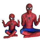 Spiderman Costume Dress Cosplay Costume Kids Adult Spider Superhero Outfit Set