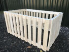 PLANED SMOOTH Wooden Puppy Dog Play Pen Animal Run Cage Crate - VARIOUS SIZES