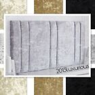 """NEW MILANO CRUSHED VELVET HEADBOARD 26"""" CHOOSE YOUR SIZE + COLOUR + FREE P & P"""
