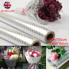 100M X 80cm Plain Clear Florist Craft Cellophane Roll Film Dot Gift Wrap Hamper