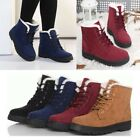 Women's Winter Suede Ankle Snow Boots Warm Fur Thicken Flats Casual Comfy Shoes