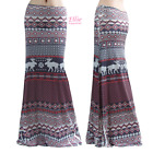 Reindeer Holiday Seasons Sublimation Maxi Long Skirt S/M/L/XL/1XL/2XL/3XL