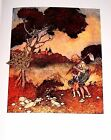 "Vtg Art Print Fairy Tale Illustration by Edmond Dulac 9"" x 12"" ** SEE VARIETY"